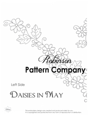 Daisies in May Hand Embroidery pattern