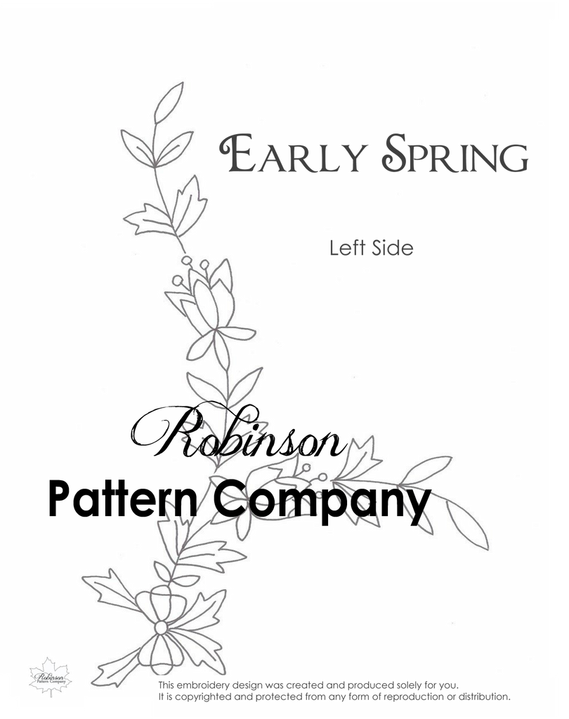 Early Spring Hand Embroidery pattern