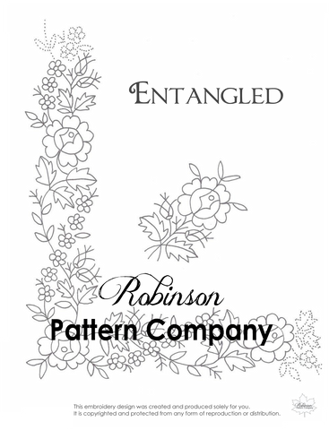 Entangled Hand Embroidery pattern