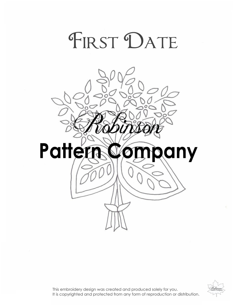First Date Hand Embroidery pattern