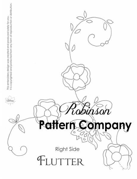 Flutter Hand Embroidery pattern