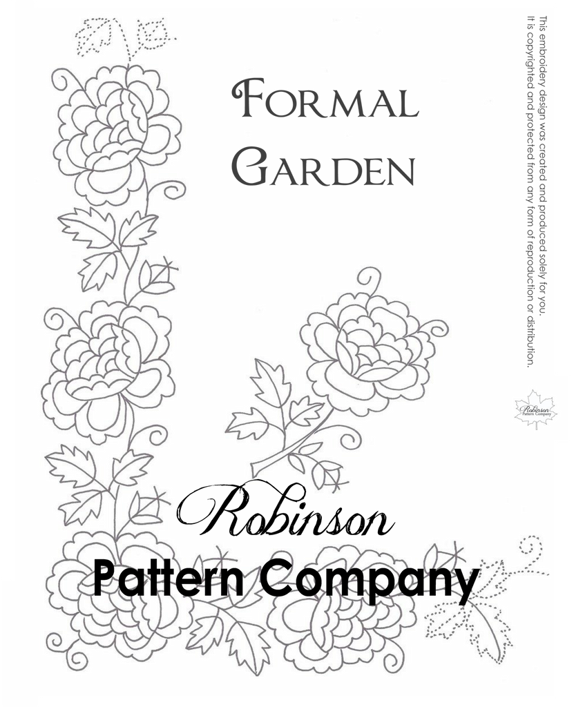 Formal Garden Hand Embroidery pattern