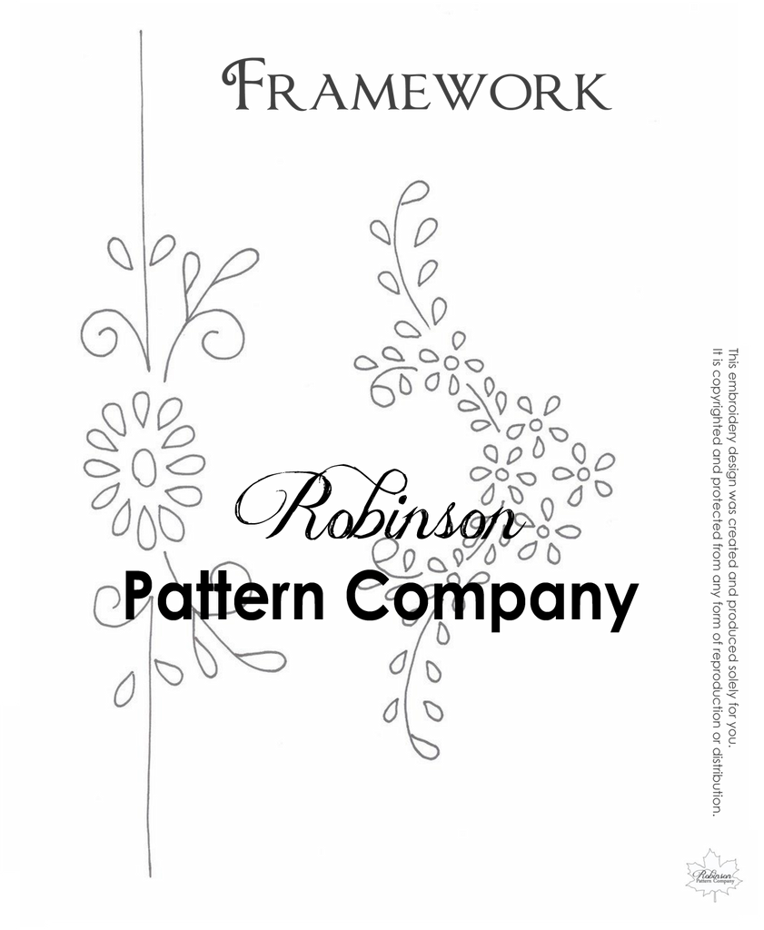 Framework Hand Embroidery pattern