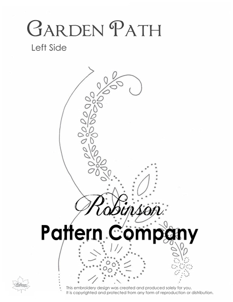 Garden Path Hand Embroidery pattern