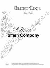 Gilded Edge Hand Embroidery pattern