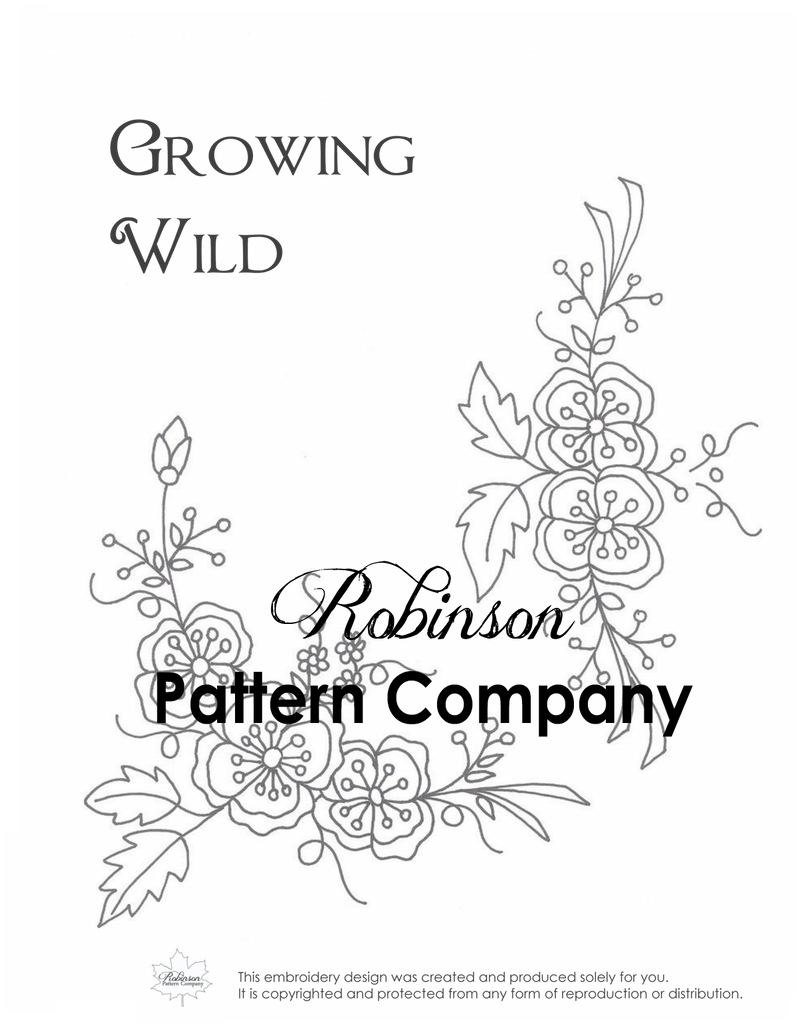 Growing Wild Hand Embroidery pattern