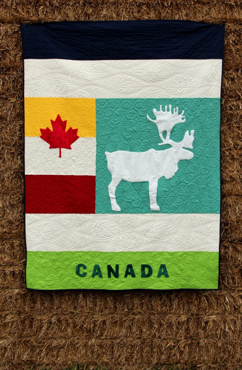 Canadian Caribou Quilt Pattern - Printed Instructions