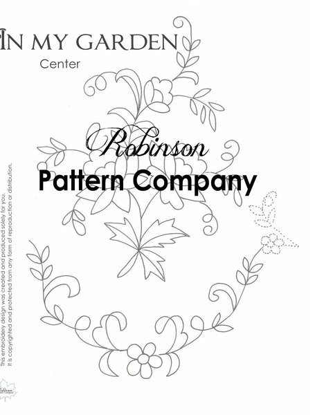 In My Garden Hand Embroidery pattern
