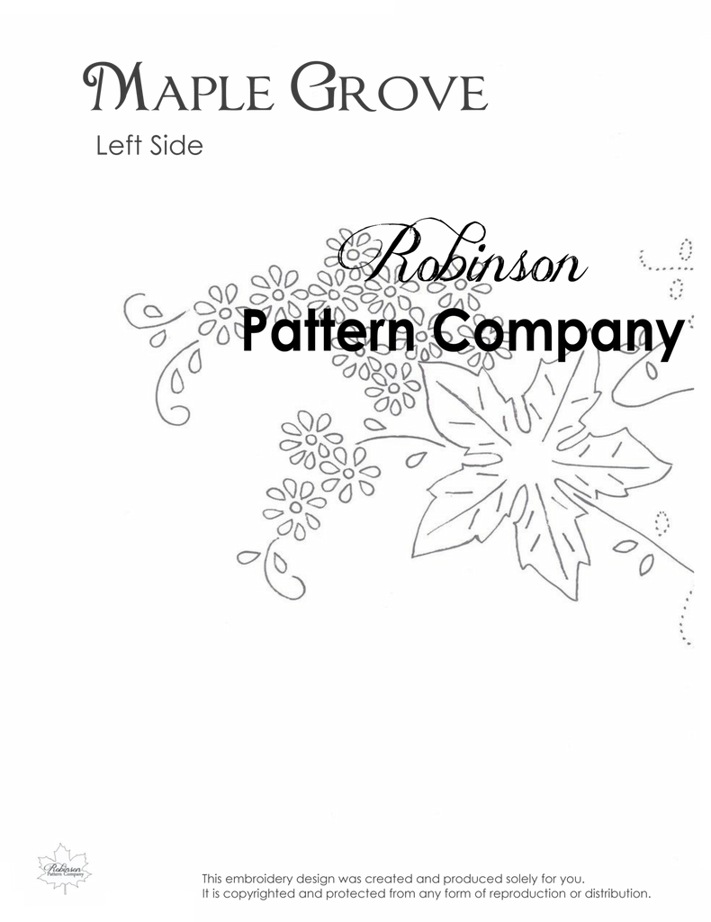 Maple Grove Hand Embroidery pattern