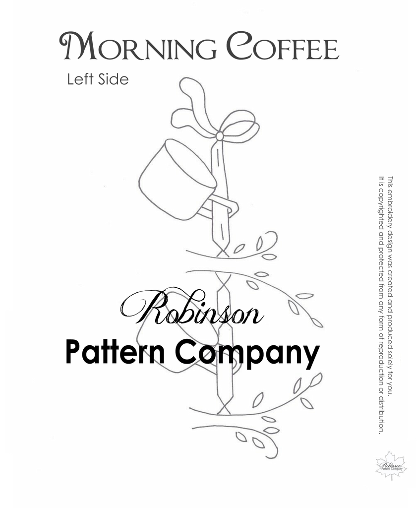Morning Coffee Hand Embroidery pattern