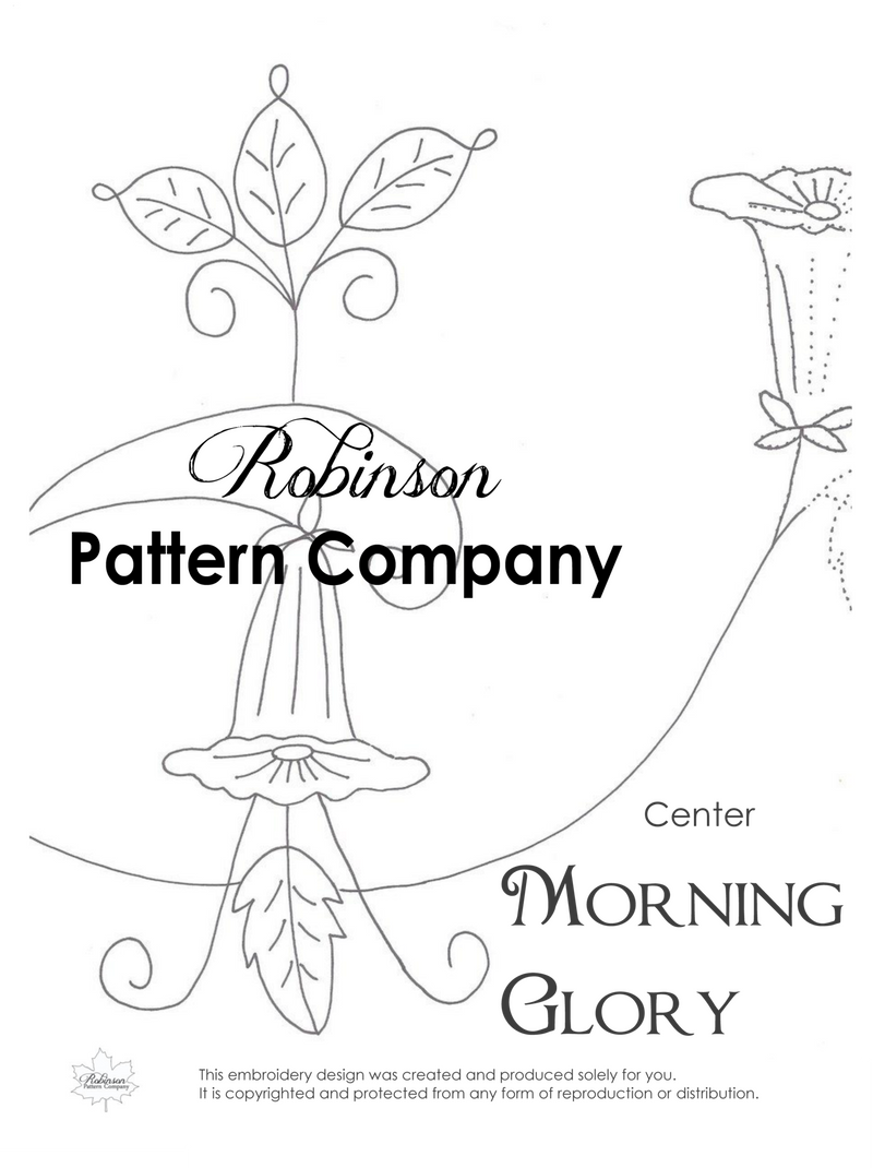 Morning Glory Hand Embroidery pattern