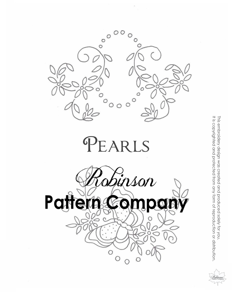 Pearls Hand Embroidery pattern