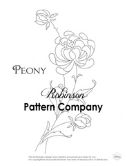 Peony Hand Embroidery pattern