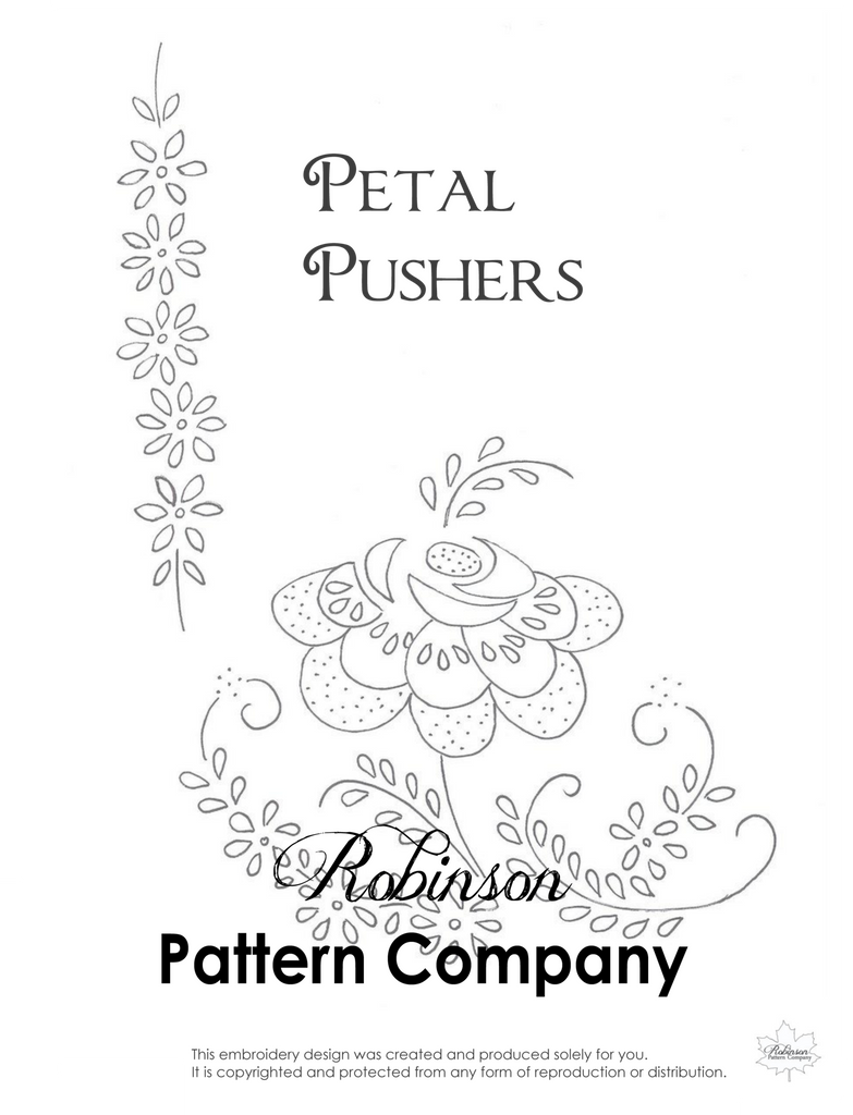 Petal Pushers Hand Embroidery pattern