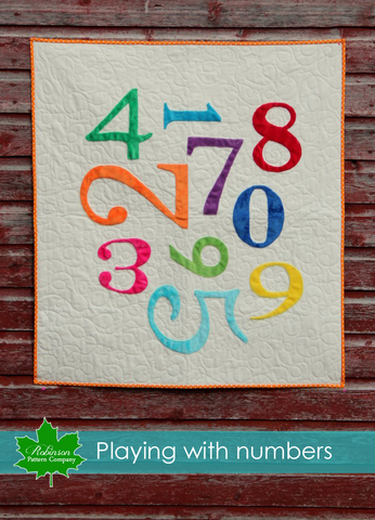 Playing with Numbers Quilt Pattern - Printed Instructions