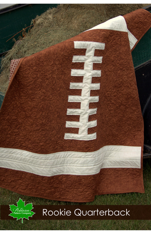 Rookie Quarterback Quilt Pattern - Printed Instructions
