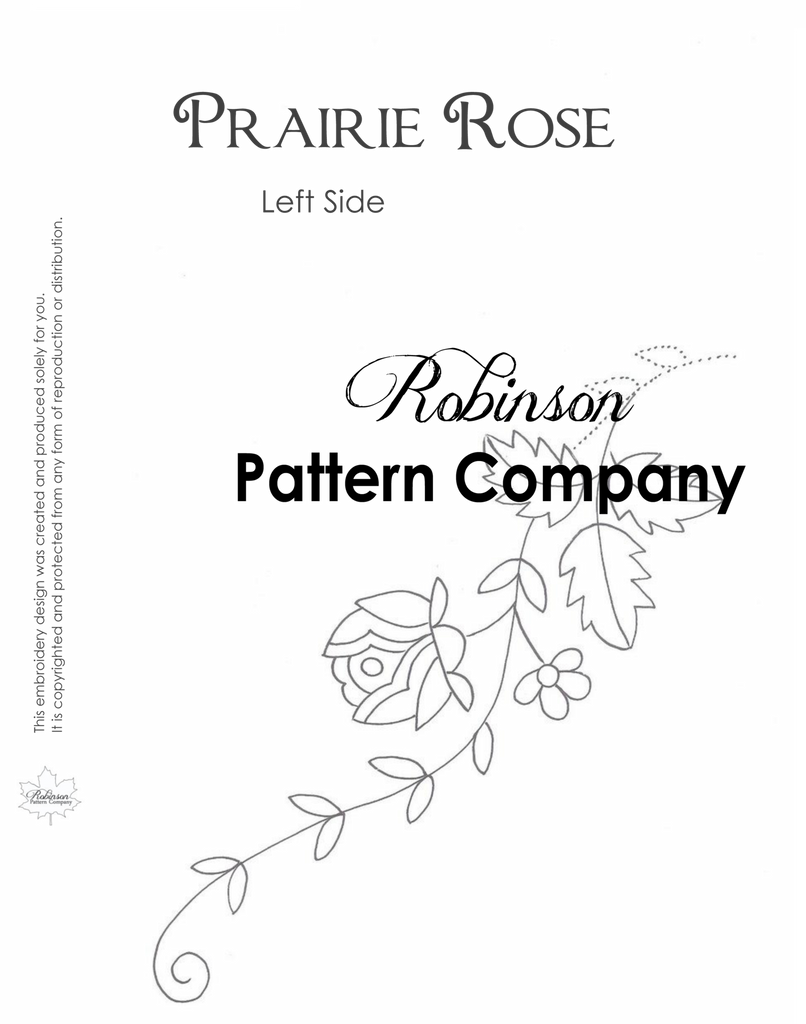 Prairie Rose Hand Embroidery pattern