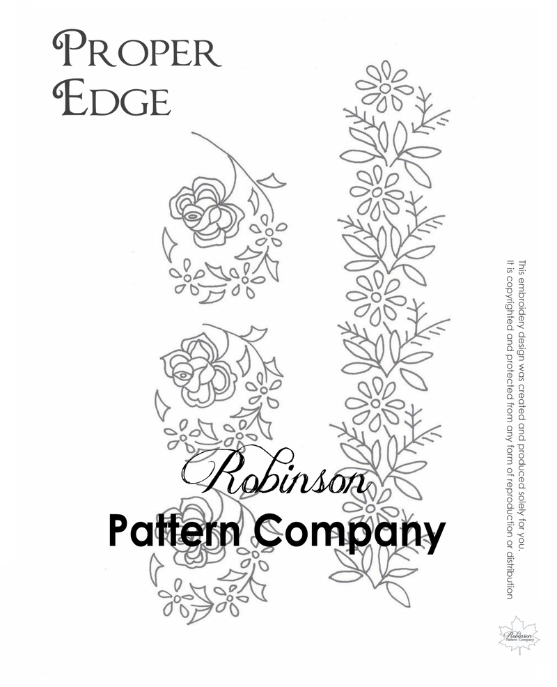 Proper Edge Hand Embroidery pattern