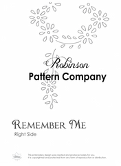 Remember Me Hand Embroidery pattern