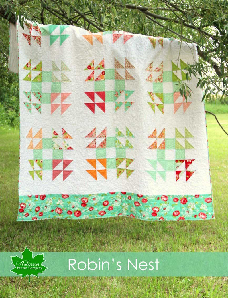 Robin's Nest Quilt Pattern - Printed Instructions