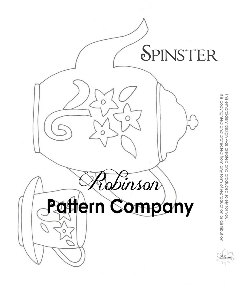 Spinster Hand Embroidery pattern
