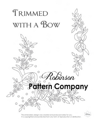 Trimmed with a Bow Hand Embroidery pattern