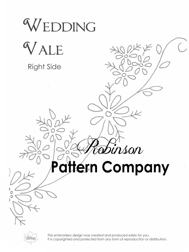 Wedding Vale Hand Embroidery pattern