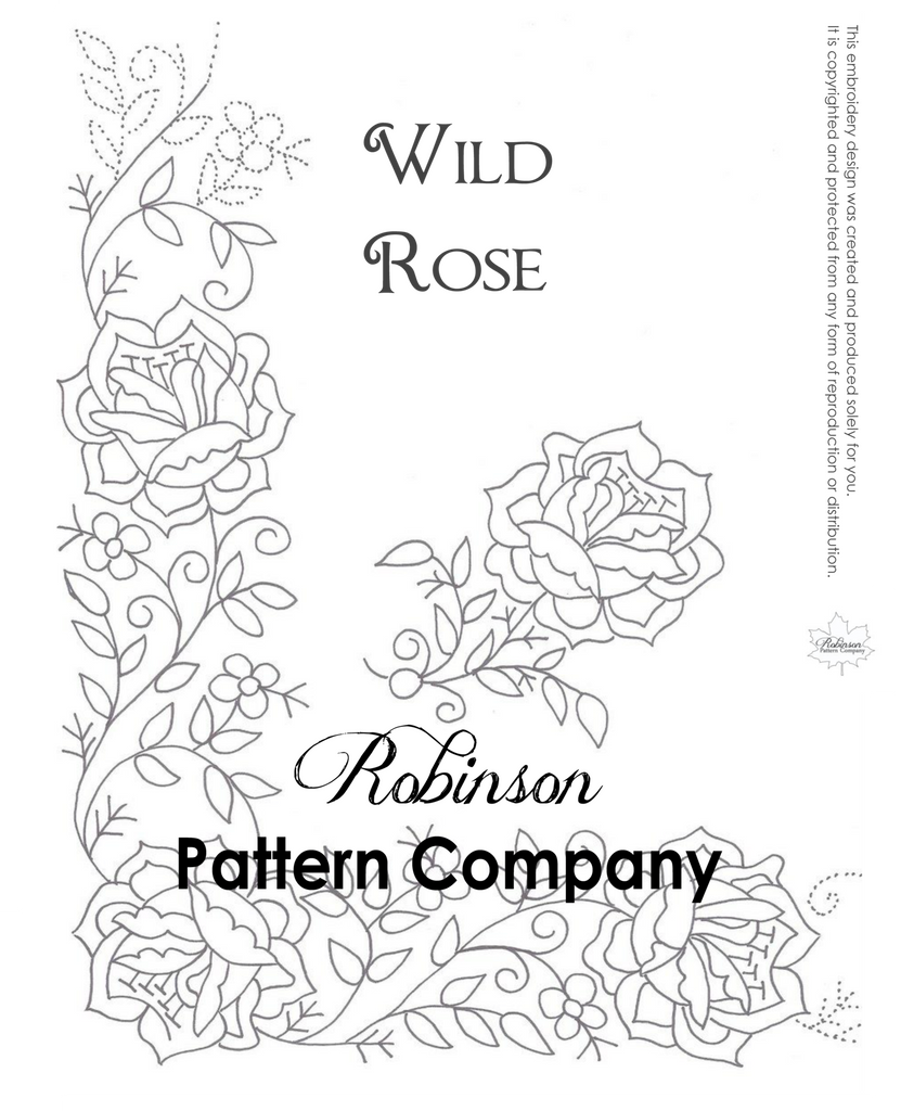 Wild Rose Hand Embroidery pattern