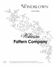 Windblown Hand Embroidery pattern