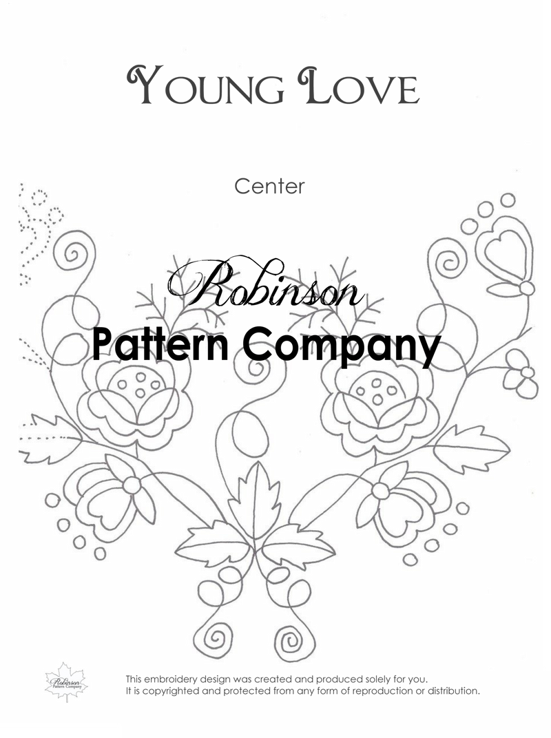 Young Love Hand Embroidery pattern