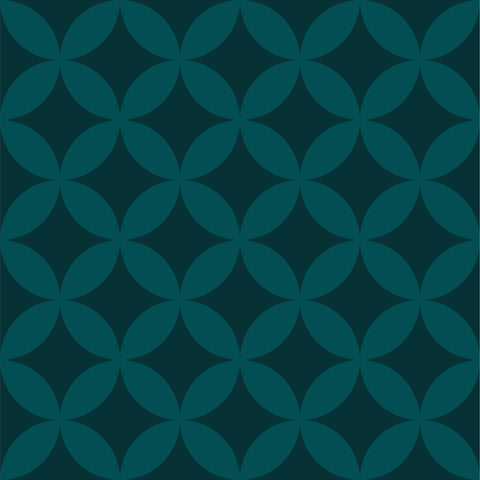 Geometric Diamond Tile - Dark Green