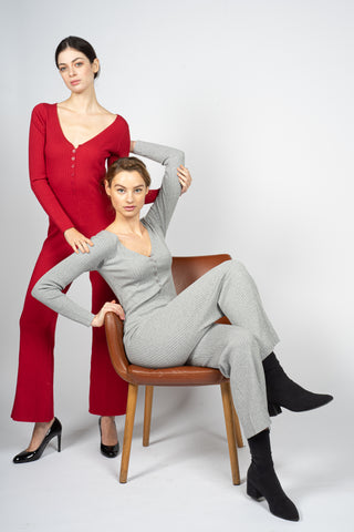 red gray jumpsuit margeamirage mid season winter spring 2020/21