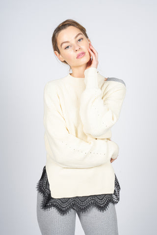 margeamirage lace sweater white ecru mid season 2020/21