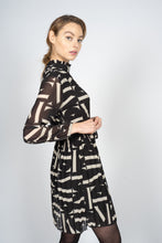 Load image into Gallery viewer, Pleated Midi Dress in Letter Print