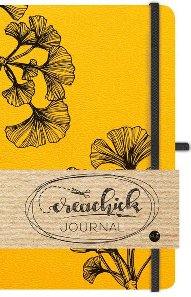 CreaChick journal - okergeel