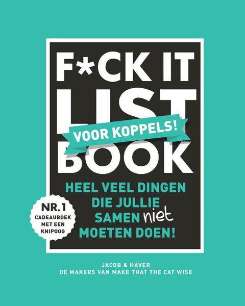 F*CK-it list book voor koppels - Jacob & Haver