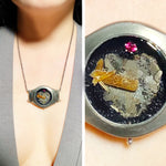 Load image into Gallery viewer, Pierced Heart Meteorite Necklace