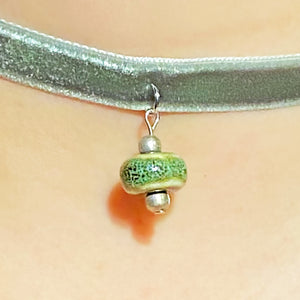 Green Ceramic Bead Choker