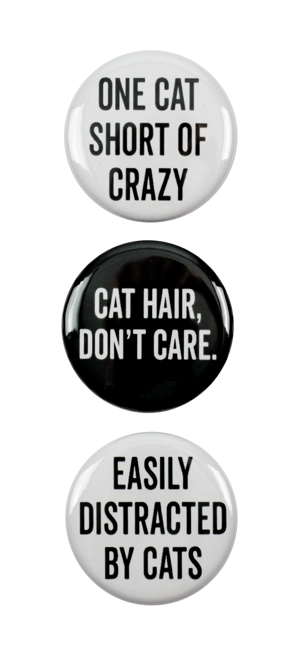 Cat 3Pc Pin Button Set