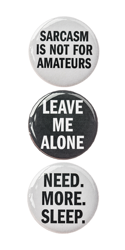 3Pc Pin Button Set