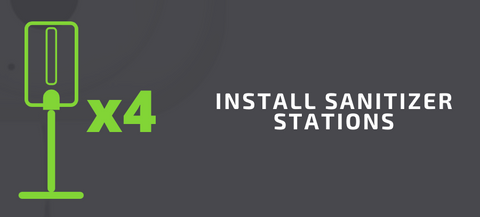 Install At Least 4 Sanitizer Stations