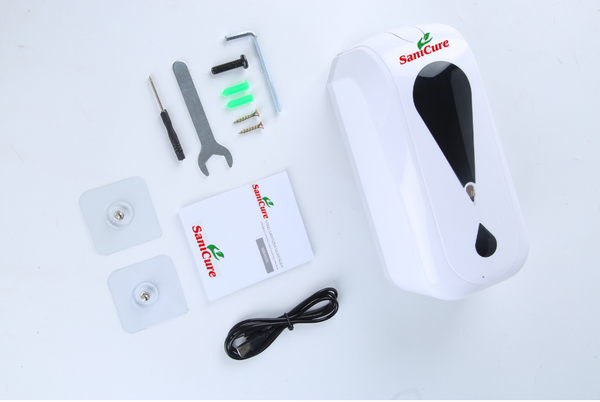 SaniCure-touch-free-hand-sanitizer-dispenser-package