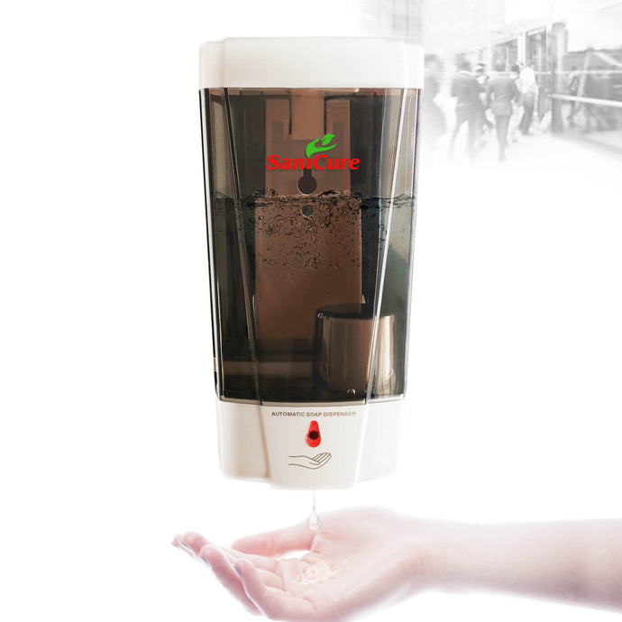 SaniCure Automatic Hand Sanitizer Dispenser Wall Mounted, 1000ml, for Bathroom and Kitchen