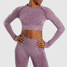 Load image into Gallery viewer, Cropped Long Sleeve and Legging Set
