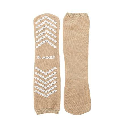 Slipper Socks McKesson X-Large Tan Above the Ankle.