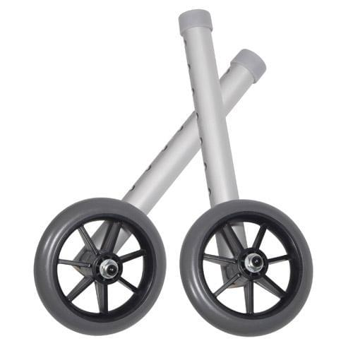 Drive Universal Walker Wheels With Rear Glide Caps.