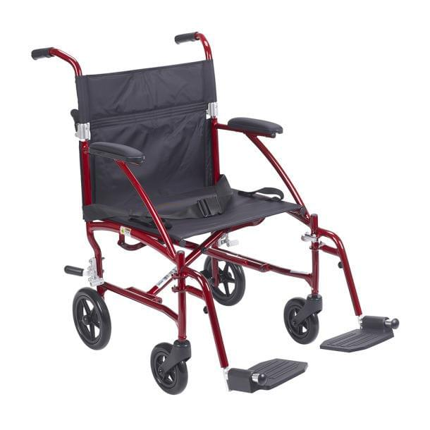 Fly-Lite Aluminum Transport Chair - Drive Medical