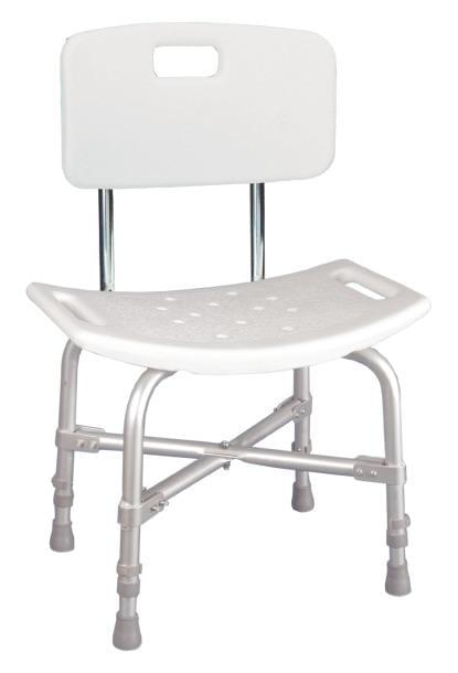 Deluxe Bariatric Shower Chair with Cross-Frame Brace.