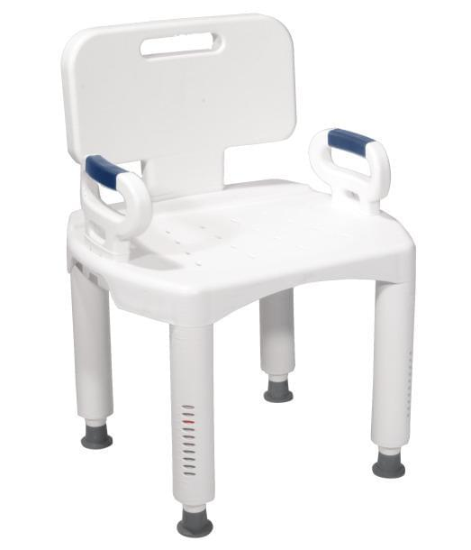 Premium Series Shower Chair with Back and Arms.