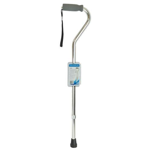 Blue Jay Offset Handle Cane - Soft Foam Grip Walking Stick with Ergonomic Handle.